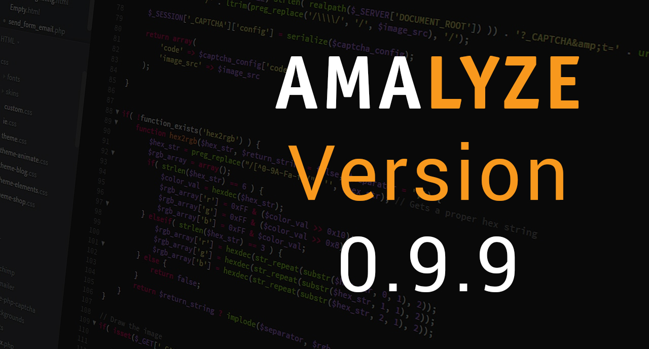 AMALYZE Version 0.9.9