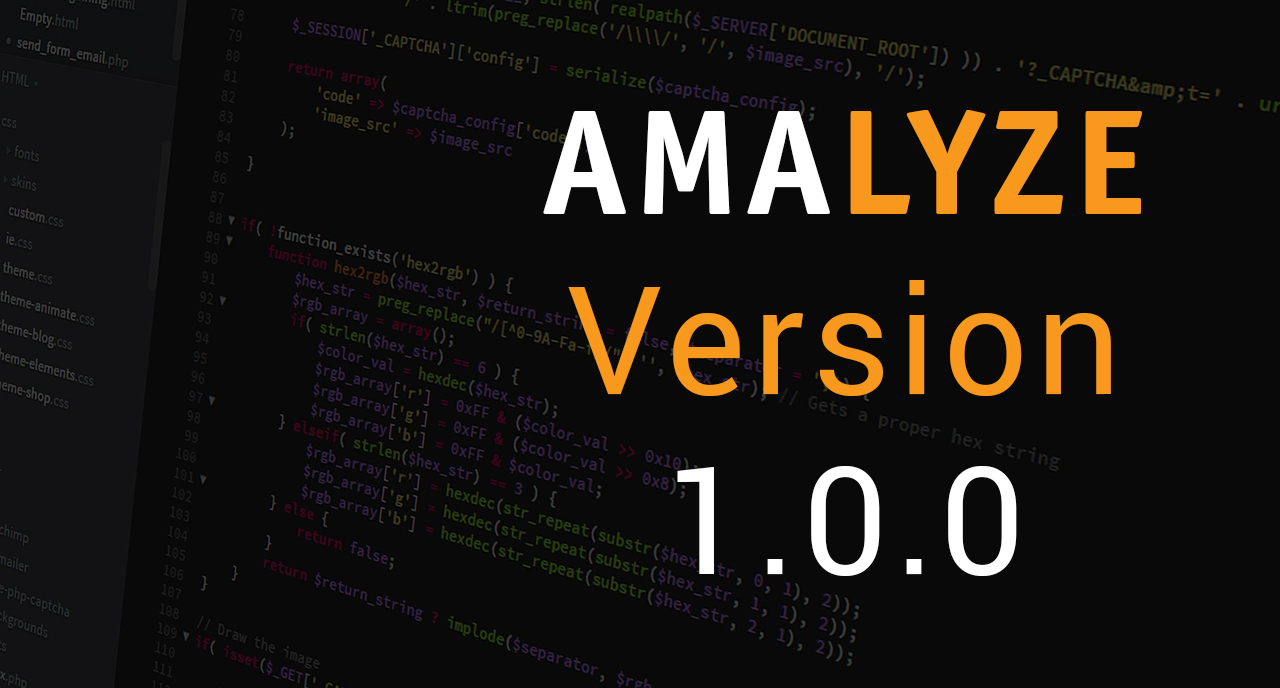 AMALYZE Version 1.0.0