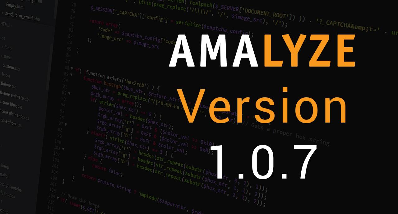 AMALYZE Version 1.0.7