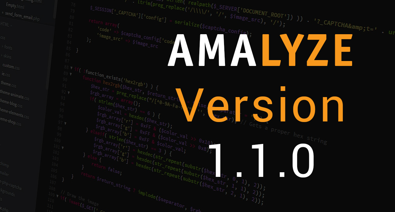 AMALYZE Version 1.1.0