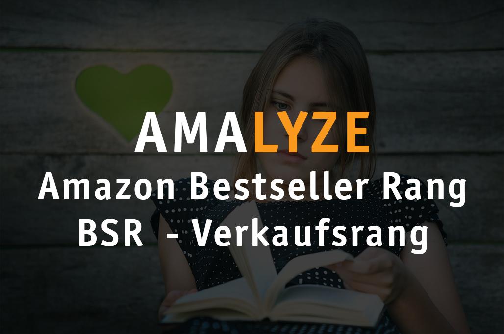Amazon Bestseller Rang - BSR - Verkaufsrang