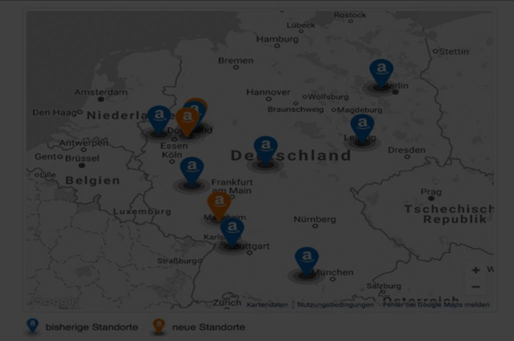 Amazon Logistikzentren in Deutschland