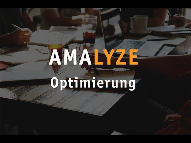 Webinar Aufzeichnung - Optimierung mit AMALYZE
