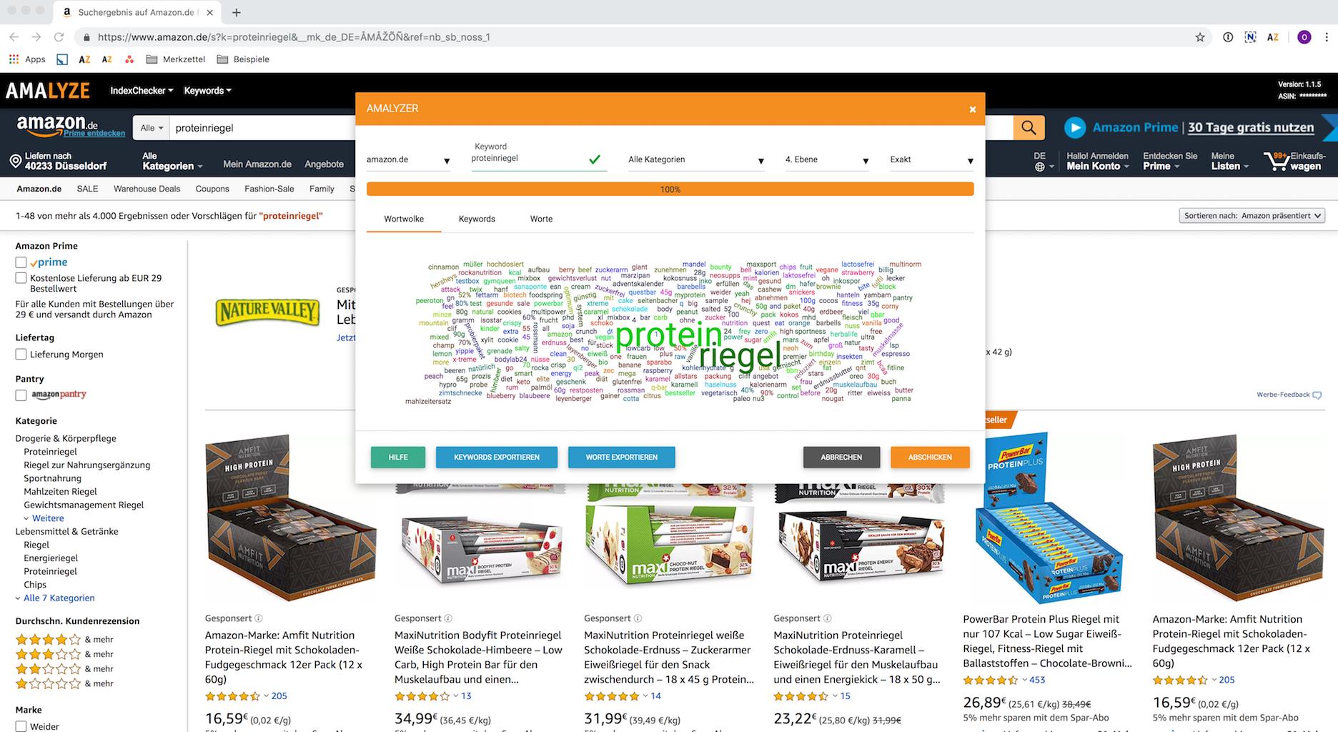 Turorial_Keyword Amalyzer Funktion und Anwendung Keywords aus Amazon Suggest abfragen