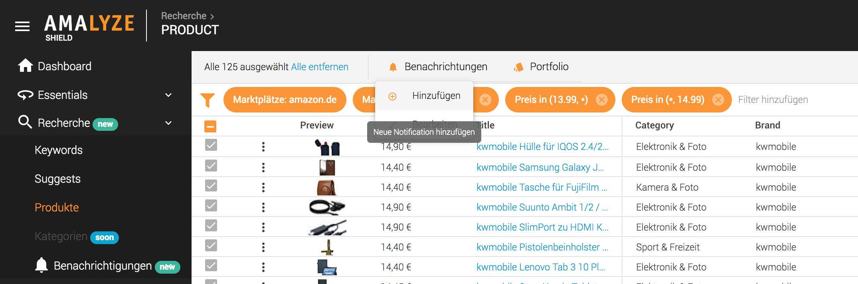 Notifications FAQ_Bulk Benachrichtigung_Auswahl Alle Ergebnisse