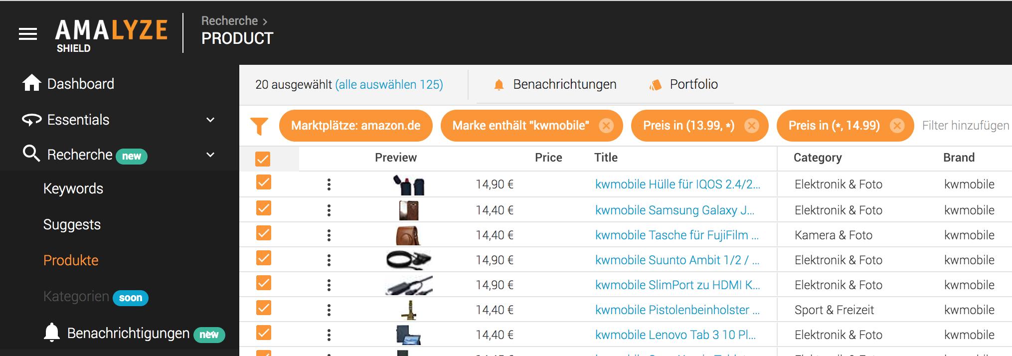 Notifications FAQ_Bulk Benachrichtigung_Auswahl Checkbox sichtbare Ergebnisse