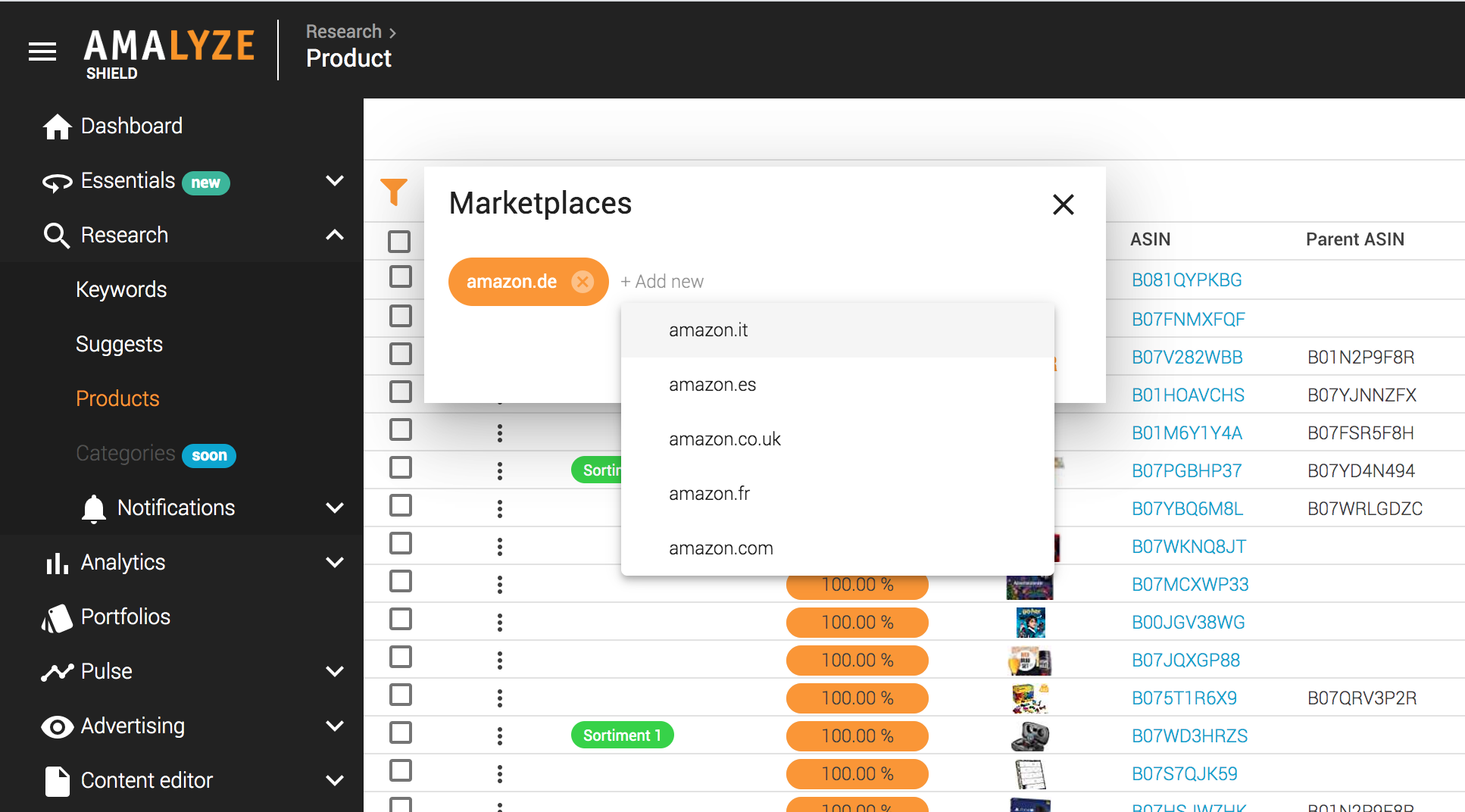 Access more marketplaces to AMALYZE Shield